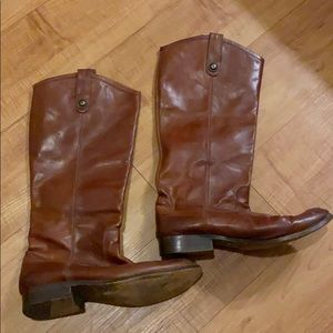 Frye leather tall boots shoes 8.5 B